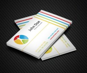 Colorful fitness business cards Free vector
