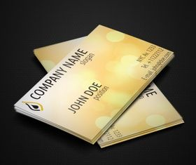 yellow business cards Free vector