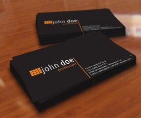 Simple black personal business card vectors graphics