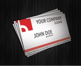 Simple red corporate business card vector