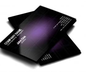 Stylish dark purple free business card vector