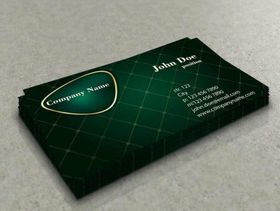 Stylish green business card vector graphics