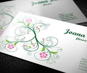 Clean and elegant floral business card creative vector