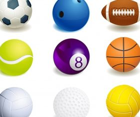 Sport ball collection Free set vector