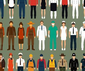 People Different Professions 2 creative vector