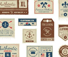 Clothes Labels free vector