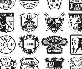 Retro Sports Labels vectors graphics