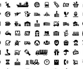 Delivery Icons free 2 vector material