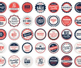 Retro Sale Labels Set design vector