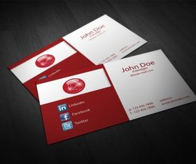 business card template Free 2 vector
