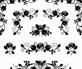 Ornamental Floral Elements 13 vectors material