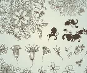 drawing flower pattern vector