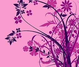 Purple flower silhouette vector