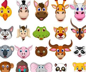 Animal Heads vector set