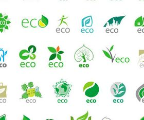Ecology Symbols 2 set vector
