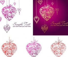 heartshaped pendant Pattern vector