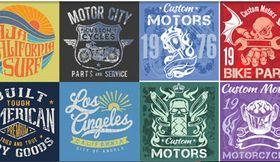 T-shirt Design Set 2 vectors