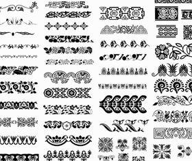 Ornamental Seamless Borders vector