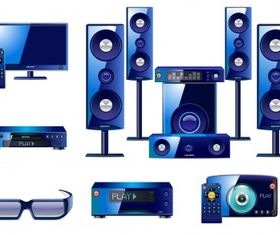 Sound system collection vector