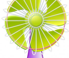 Electric fan Free shiny vector