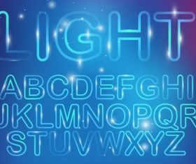 Neon light font Free vectors graphic
