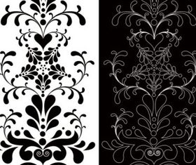 Black white patterns 01 vector