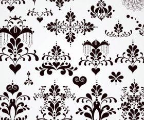 Black and white patterns 02 Illustration vector