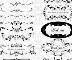 Ornate Menu Elements 6 vectors graphics
