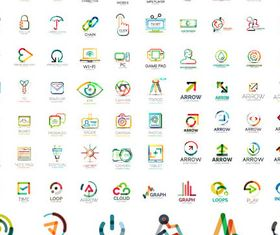 Creative Shiny Logotypes vector