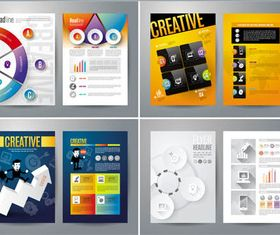 Creative Business Flyers 7 vector