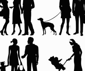 Silhouettes Family 3 vector graphic