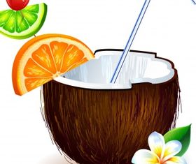 Coconut fruit Free vector graphics