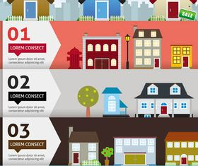 Real Estate Backgrounds 15 vector