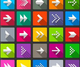 Flat Arrows Icons design vector