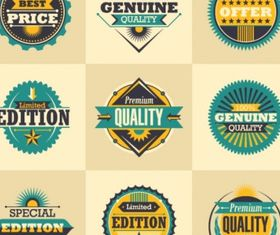 Retro stickers Free vectors material
