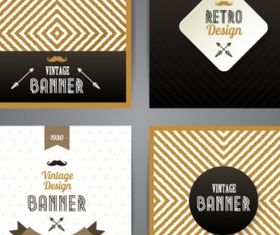Retro style banners Free creative vector