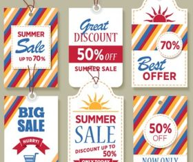 Sale tags Free set vector