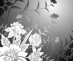 Trend line drawing flowers vector