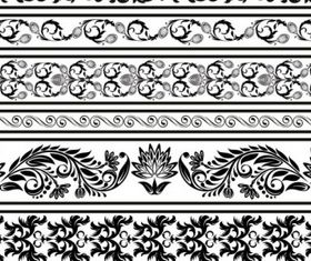 Black and white patterns 04 set vector