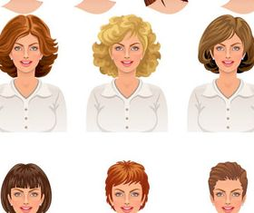Woman Faces Avatars vector