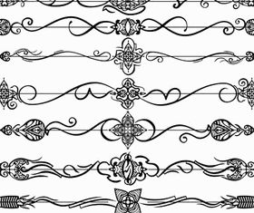 Calligraphic Dividers vectors graphic