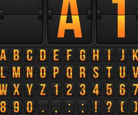 Scoreboard Alphabets Set 2 vector graphics