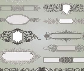 gorgeous classic decorative pattern 1 vector material
