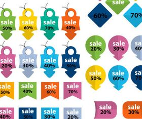 Sale Colorful Elements Illustration vector