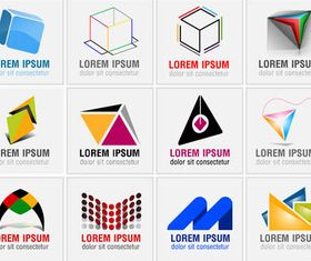 Abstract Business Logotypes 10 vector