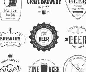 Beer Retro Labels vectors