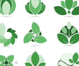 Green Leaves Logotypes Illustration vector