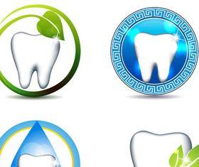Dental Logotypes Set 3 design vectors