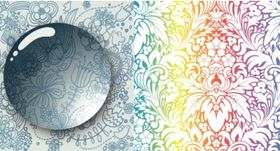 Cool background pattern set vector