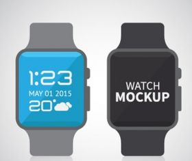 Apple smart watch mock up Free vector